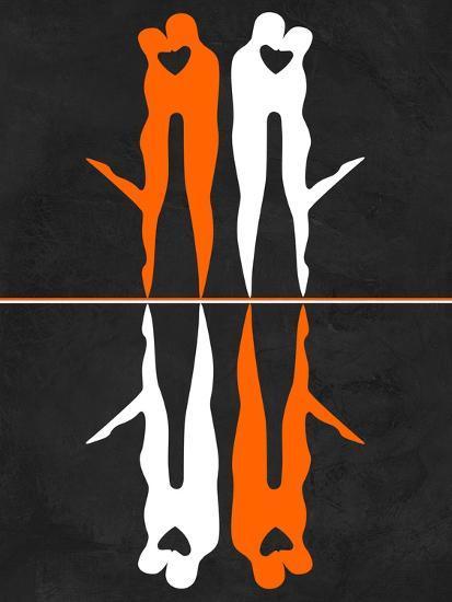 Orange and White Kiss-Felix Podgurski-Art Print