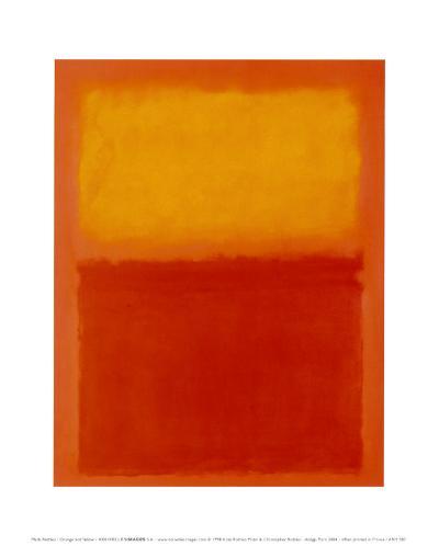 Orange and Yellow-Mark Rothko-Art Print