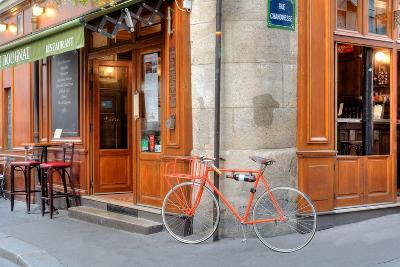 Orange Bicycle, Paris-Alan Blaustein-Photographic Print