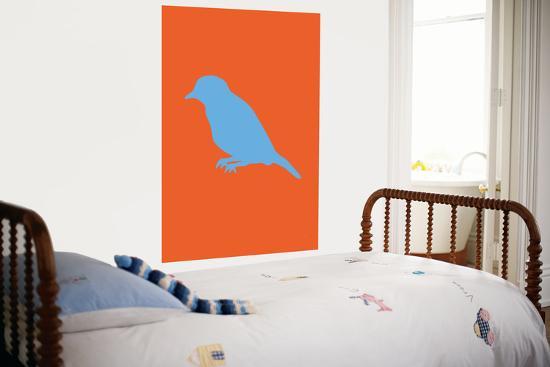 Orange Bird Silhouette-Avalisa-Giant Art Print