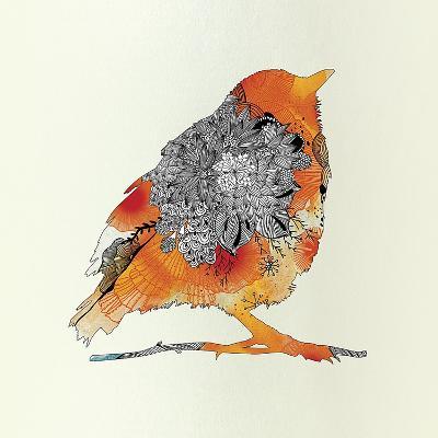 Orange Bird-Iveta Abolina-Art Print