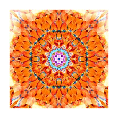 Orange Blossom Mandala-Alaya Gadeh-Art Print