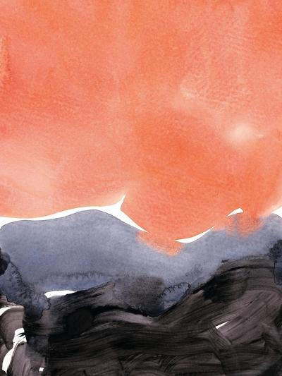 Orange Blue Graphite-Iris Lehnhardt-Art Print