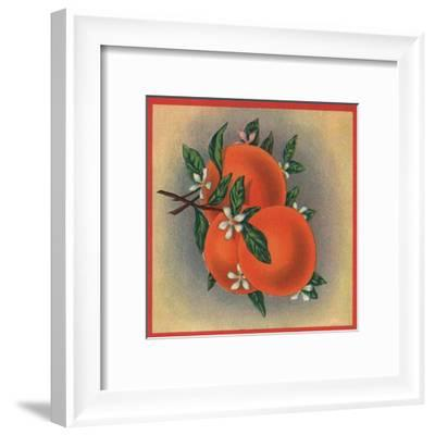 Orange Branch - Citrus Crate Label-Lantern Press-Framed Art Print