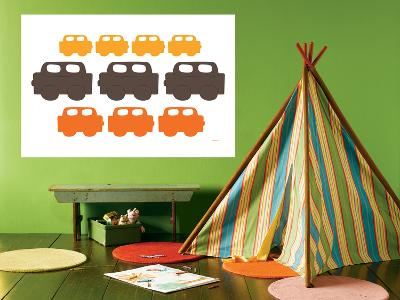 Orange Cars-Avalisa-Giant Art Print