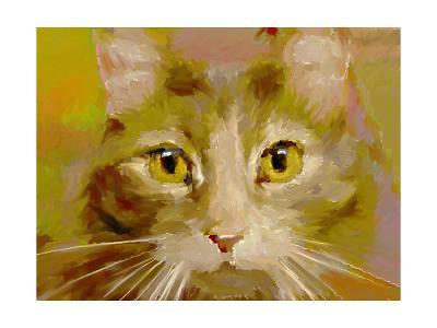 Orange Cat - Digital Oil Painting-anatomyofrockthe-Art Print