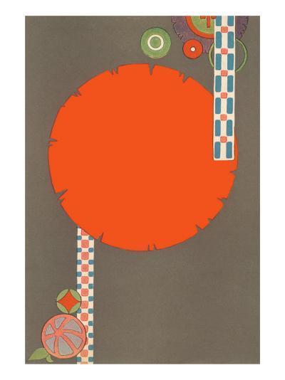 Orange Circle, Modern Shapes--Art Print