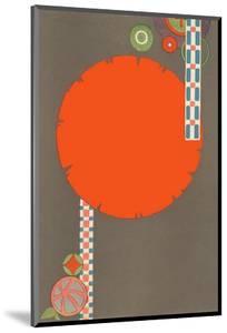 Orange Circle, Modern Shapes
