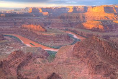 Orange Colorado River, Dead Horse Point, Utah Colored Water from Red Soil Runoff-Tom Till-Photographic Print