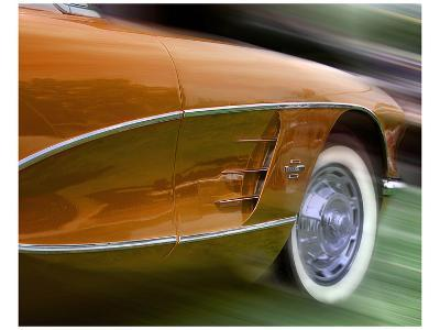 Orange Corvette-Richard James-Art Print