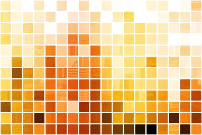 Orange Cubic Professional Abstract Background-kentoh-Art Print