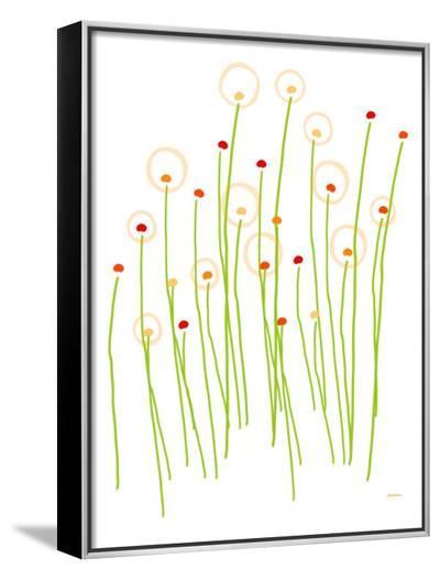Orange Dandelion-Avalisa-Framed Canvas Print