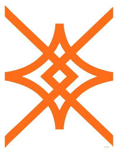 Orange Diamond-Avalisa-Art Print