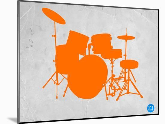 Orange Drum Set-NaxArt-Mounted Print