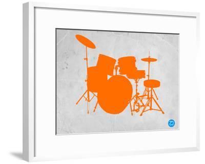 Orange Drum Set-NaxArt-Framed Art Print