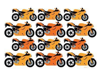 Orange Ducati-Avalisa-Art Print