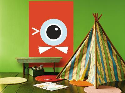 Orange Duck Eye-Avalisa-Wall Mural