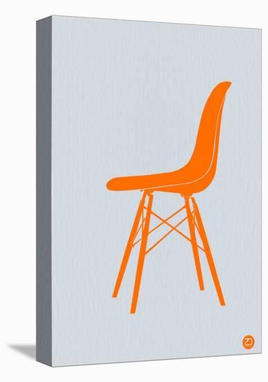 Orange Eames Chair-NaxArt-Stretched Canvas Print