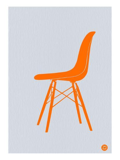 Orange Eames Chair-NaxArt-Premium Giclee Print