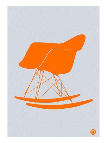 Orange Eames Rocking Chair-NaxArt-Art Print