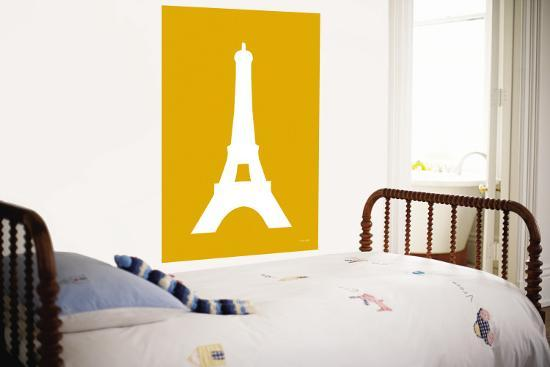 Orange Eiffel Tower-Avalisa-Wall Mural