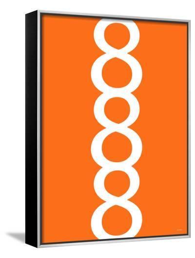 Orange Figure 8 Design-Avalisa-Framed Canvas Print