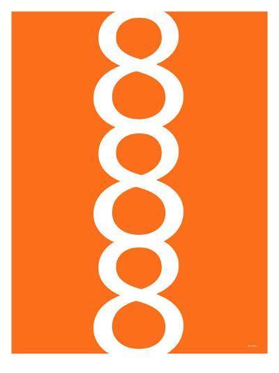 Orange Figure 8 Design-Avalisa-Art Print