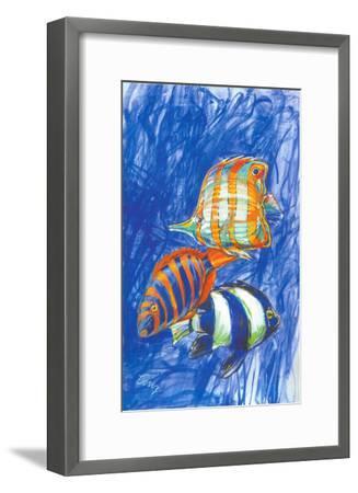 Orange Fish-Cruz-Framed Art Print