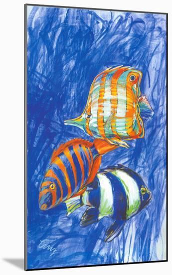 Orange Fish-Cruz-Mounted Art Print