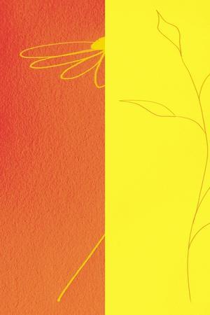 Orange Floral II-Ruth Palmer-Art Print