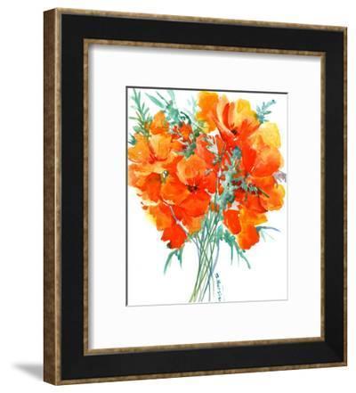 Orange Flower California Poppies-Suren Nersisyan-Framed Art Print