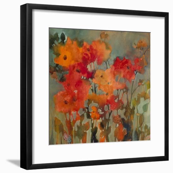 Orange Flower-Michelle Abrams-Framed Premium Giclee Print