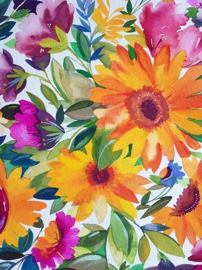Orange Gerber Daisies 2-Kim Parker-Giclee Print