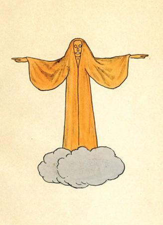 Orange Ghost on a Cloud