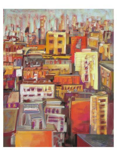 Orange Glow VII--Art Print