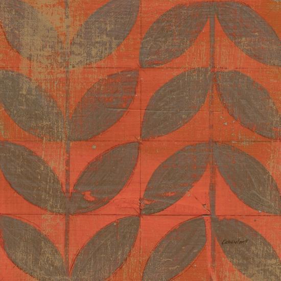 Orange Gold Leaves-Kathrine Lovell-Art Print