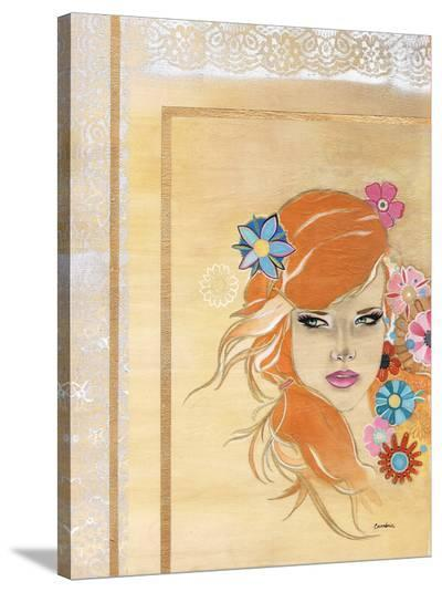 Orange Haired Girl- Cambria-Stretched Canvas Print