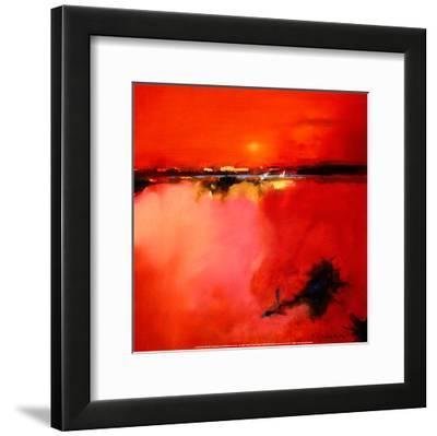 Orange Horizon-Peter Wileman-Framed Art Print