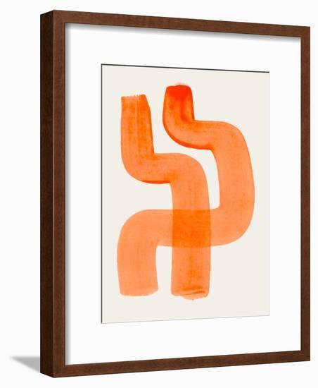 Orange Hugs-Ejaaz Haniff-Framed Art Print