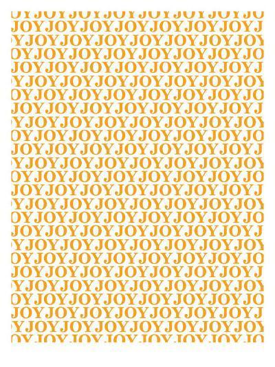 Orange Joy Joy Joy-Avalisa-Art Print