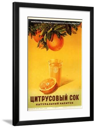Orange Juice - Natural--Framed Art Print