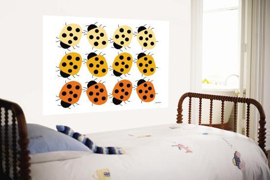 Orange Ladybug Family-Avalisa-Wall Mural