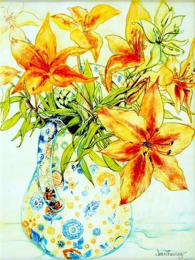 Orange Lilies in a Japanese Vase, 2000-Joan Thewsey-Giclee Print