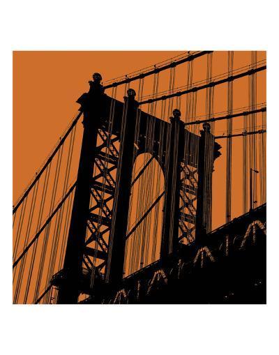 Orange Manhattan-Erin Clark-Art Print