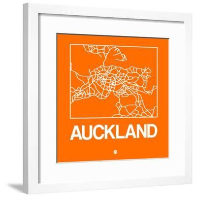 Orange Map of Auckland-NaxArt-Framed Premium Giclee Print