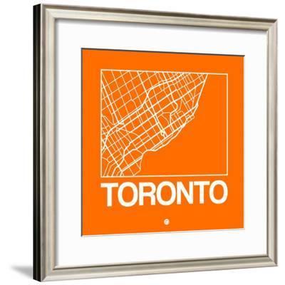 Orange Map of Toronto-NaxArt-Framed Premium Giclee Print
