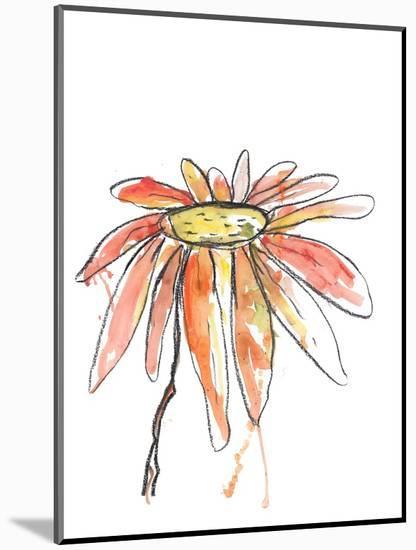 Orange Modern Botanical-Jan Weiss-Mounted Art Print