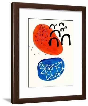 Orange Ocean Sunset-Ejaaz Haniff-Framed Art Print