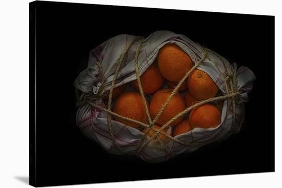 Orange On Black-Secundino Losada-Stretched Canvas Print