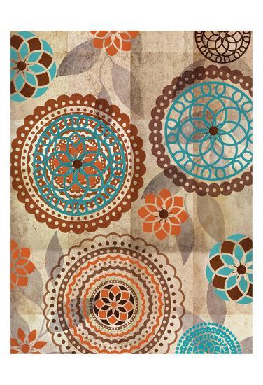 Orange Oragomie 2-Kristin Emery-Art Print